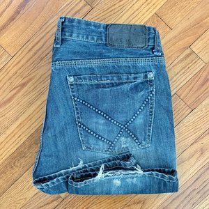 Kenneth Cole Reaction Straight Leg Distress Jeans